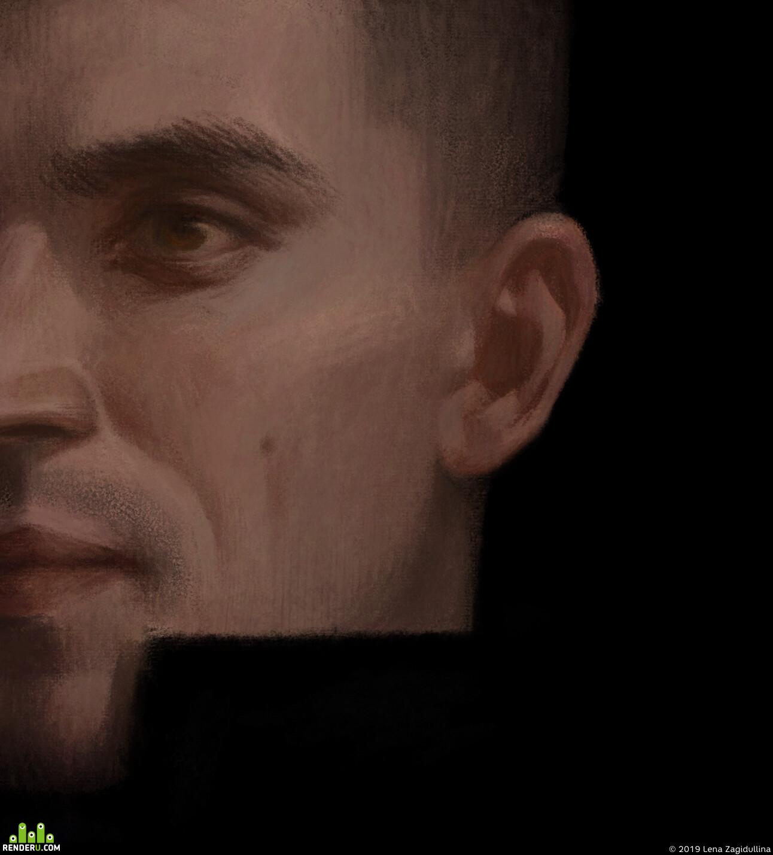 цифровое искусство, Концепт-арт, личность, портрет, характер, тайна