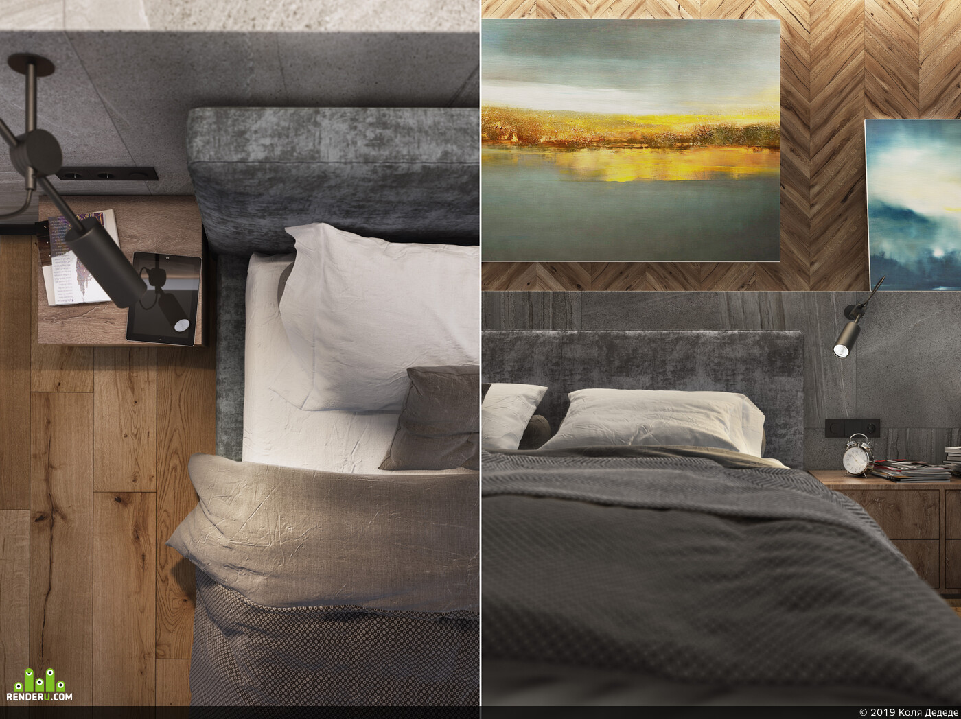 modern, visualization, interior design