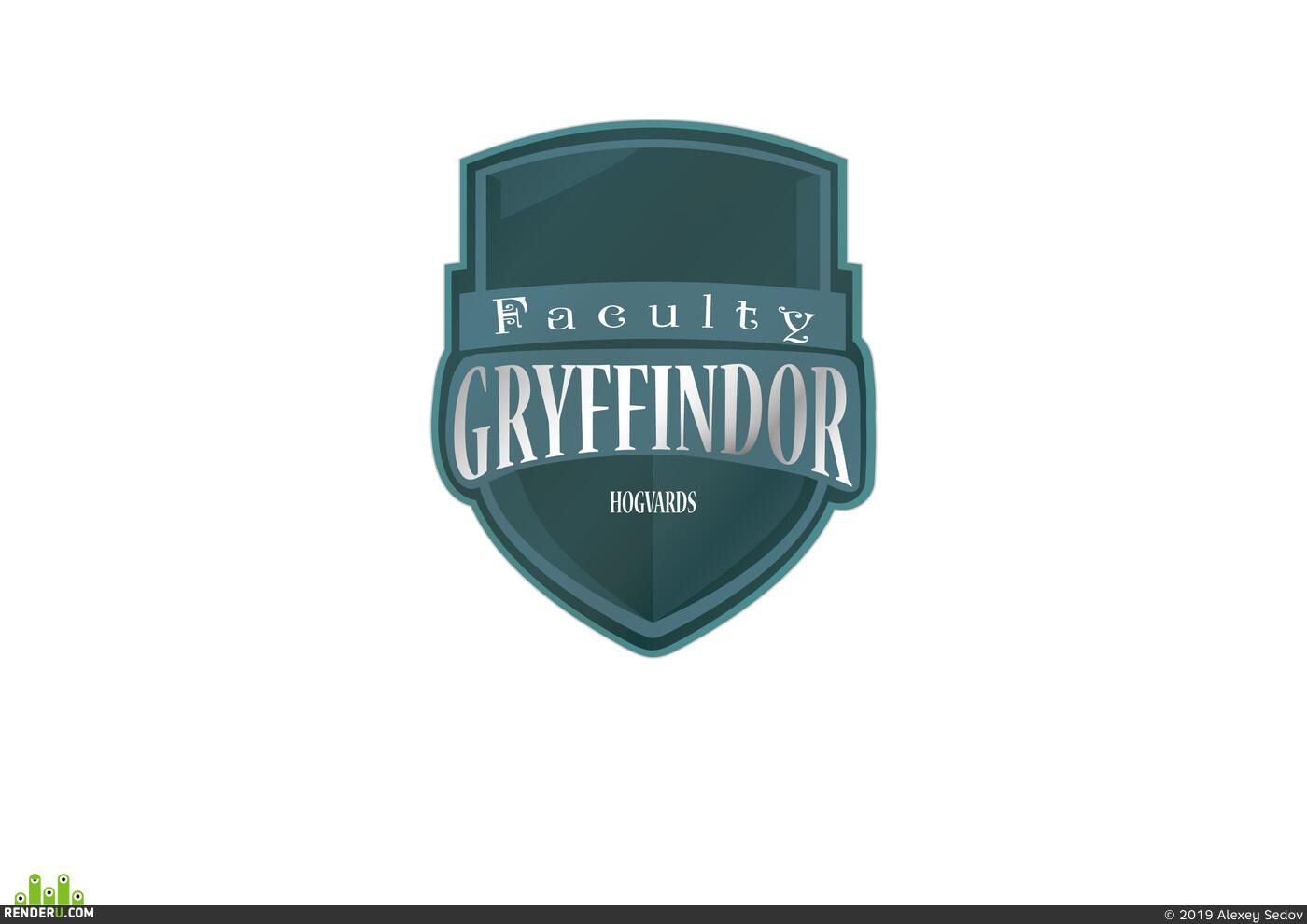 Griffindor shield, Griffindor, Harry Potter