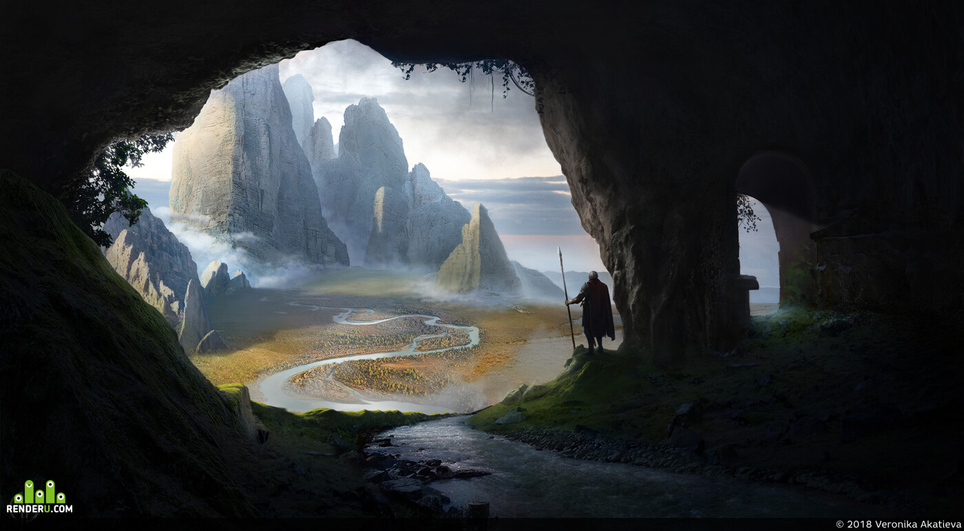 Digital 2D, Concept Art, Matte Painting, Environments, digital, 2D