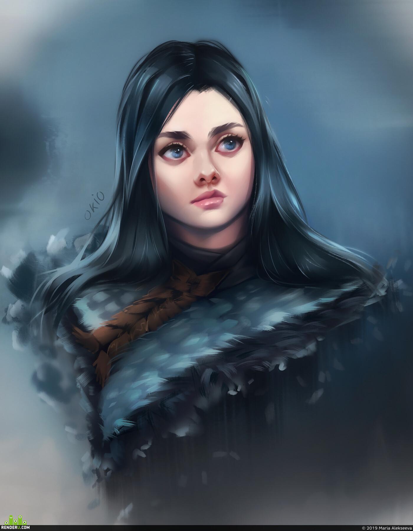 gameofthrones, Winterfell, game, thrones, arya_stark, aryastark, arya, stark, Portrait