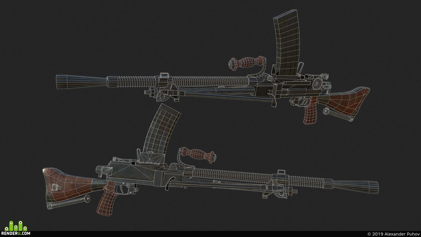 3dmodeling, 3d_modeling, modeling, PBR, weapons, Моделирование, 3д моделирование, 3d моделирование, 3д модели, 3D моделирование в MAYA
