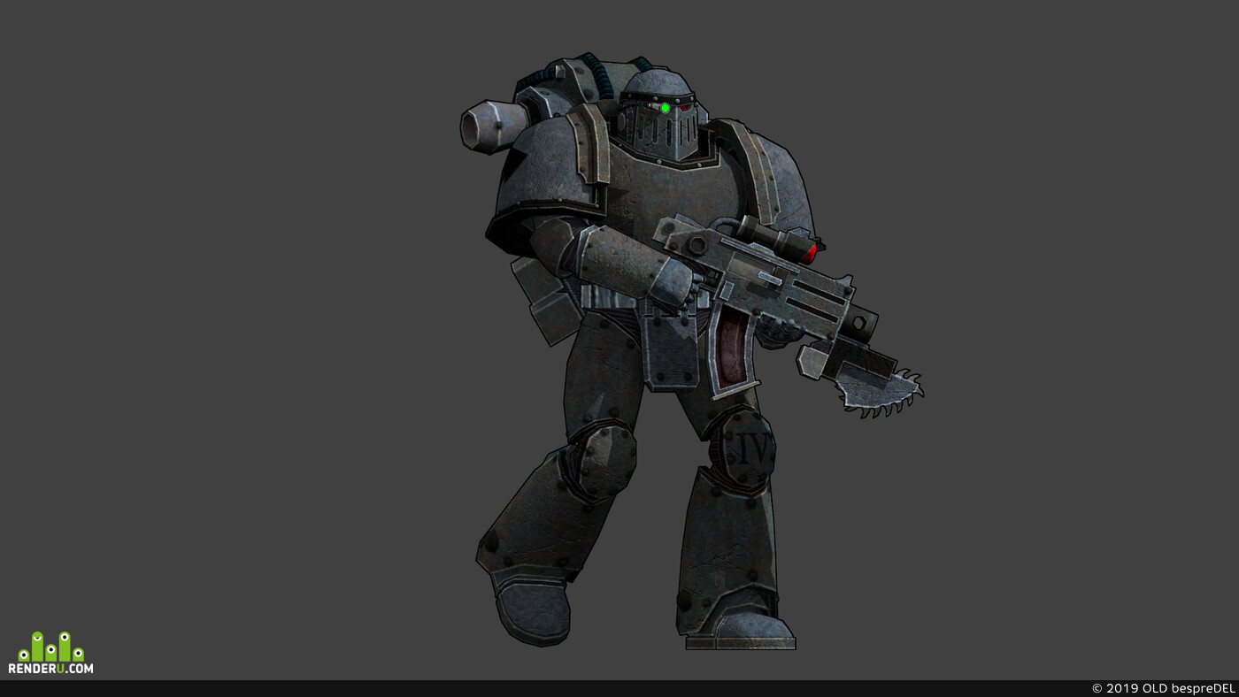 Astartes, Heresy Iron Warrior, Warhammer 30k, Bolter Umbra, 3D Animation, Warhammer40k