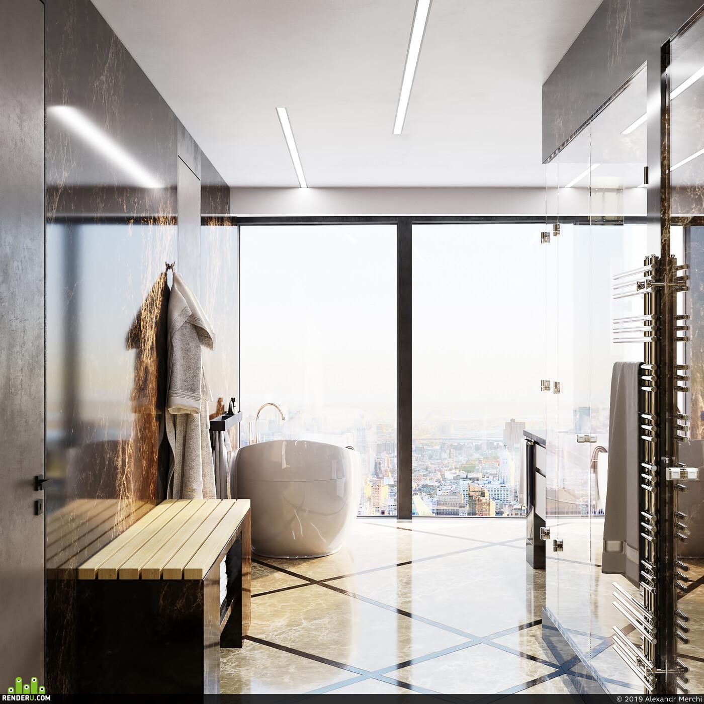 Визуализация, визуализация, архитектура, интерьер, корона, архитектурная визуализация, дизайн интерьера