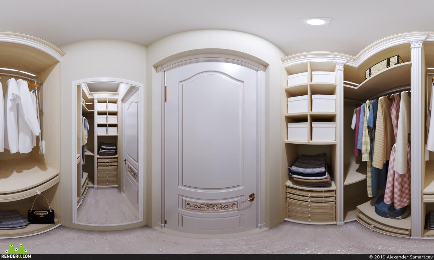 гардероб, вещи, шкаф