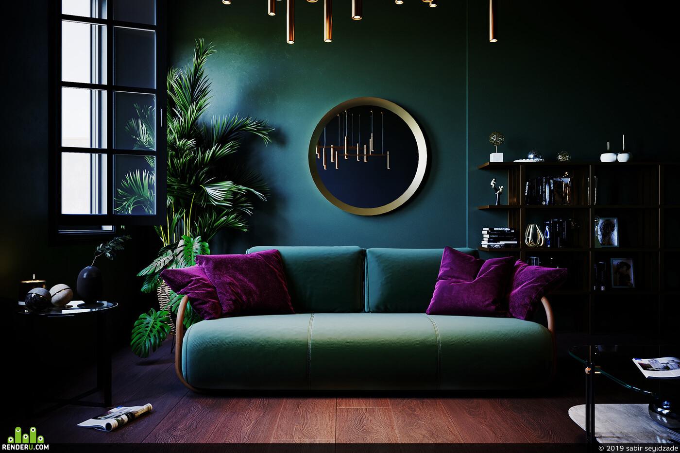 3ds max, Corona Renderer, interior design, visualization