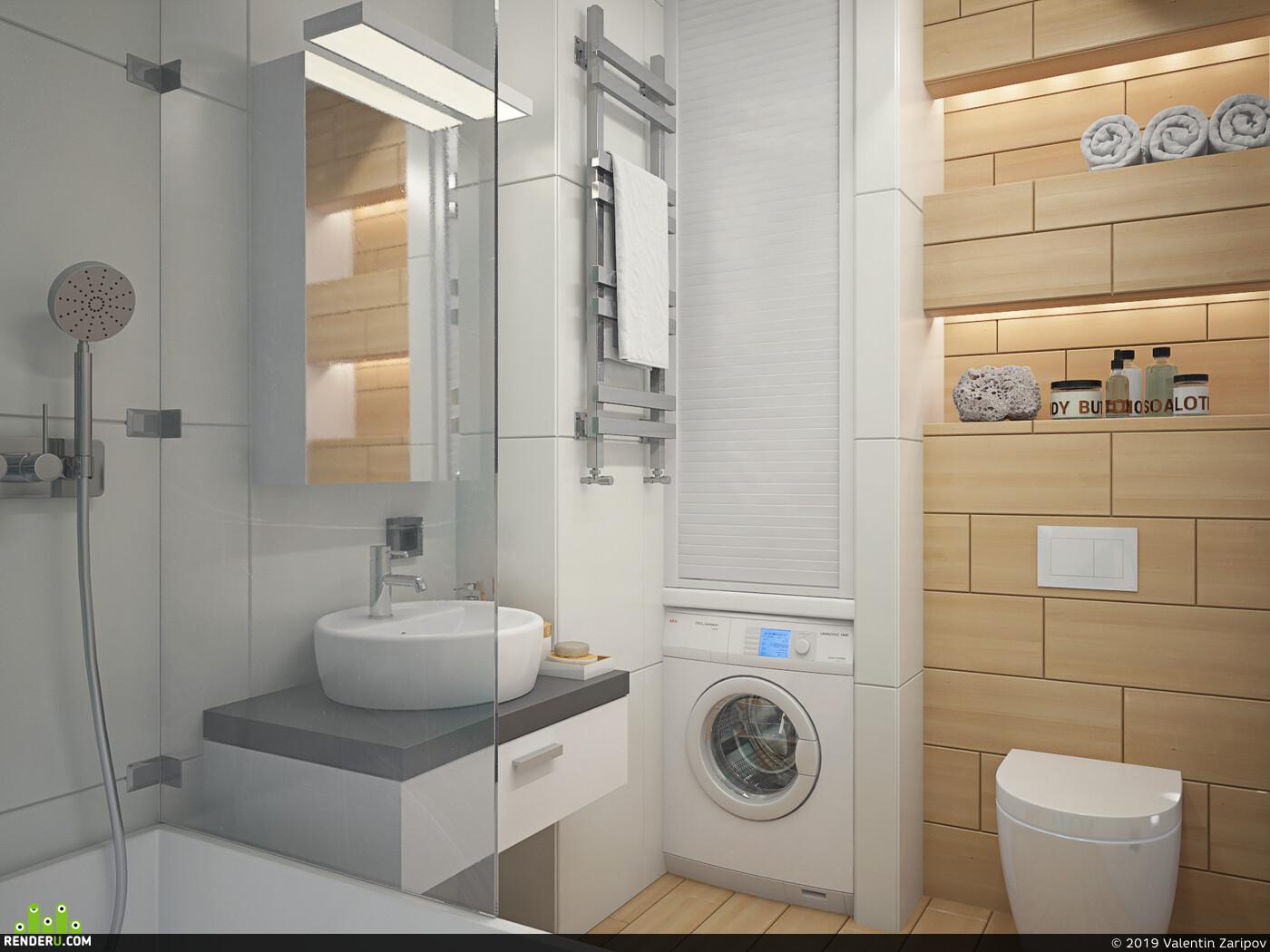 3д макс, вирей, Визуализация, интерьер, визуализация интерьера, дизайн, Дизайн Проект, дизайн интерьера, Туалет, визуализация ванной