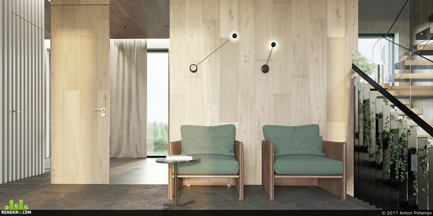 Визуализация, интерьер, ванная комната, коронарендер, 3ds max, Corona Renderer, interior