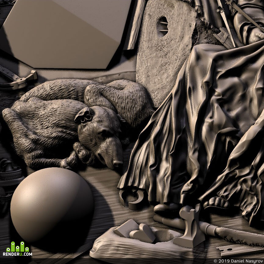 3ds max, ZBrush, CNC-prototyping, cnc, models for CNC