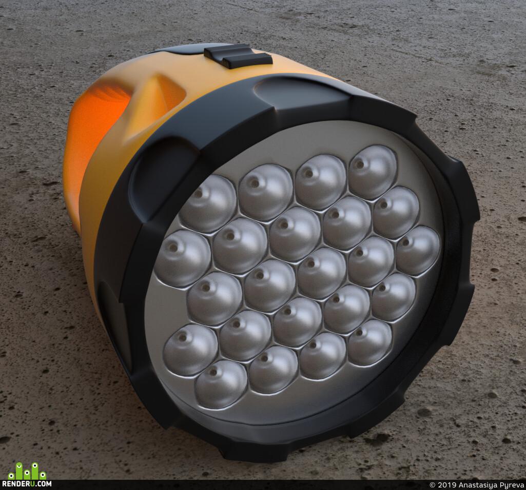 фонарик, карманный, светится