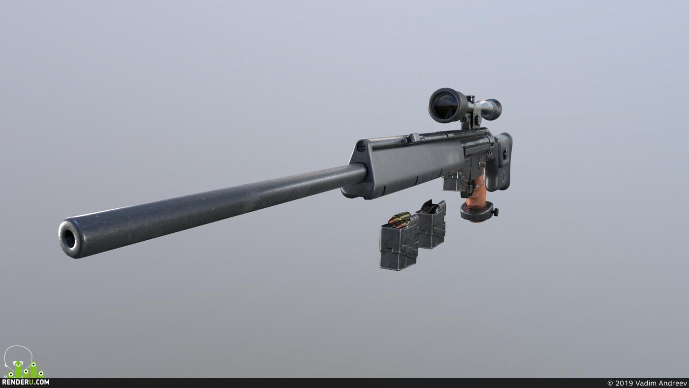 снайперская винтовка, оружие, спецназ
