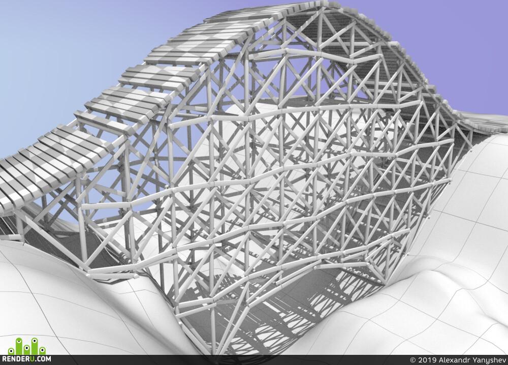 Houdini, bridge, construction
