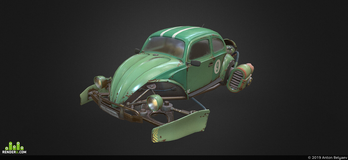 cars, lowpoly, low poly, low-poly, low, prop, sci fi, scifi, Fly Ship