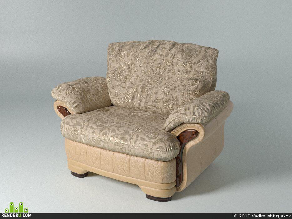 Диван для гостиной мебель интерьер дизайн фурнитура гостиная комната отдыха модель полигоны кожа текстура ткань минимализм мода спаль