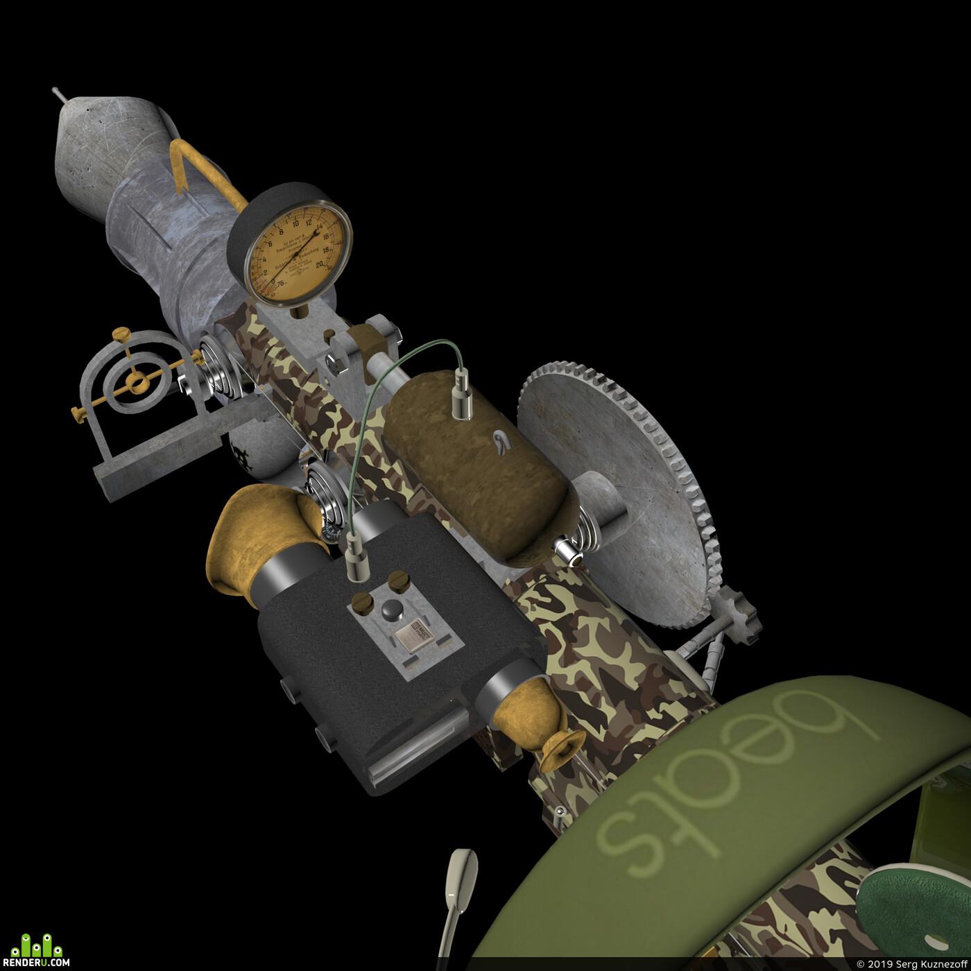 ракета стимпанк ПЗРК пусковая установка зенитная оружие