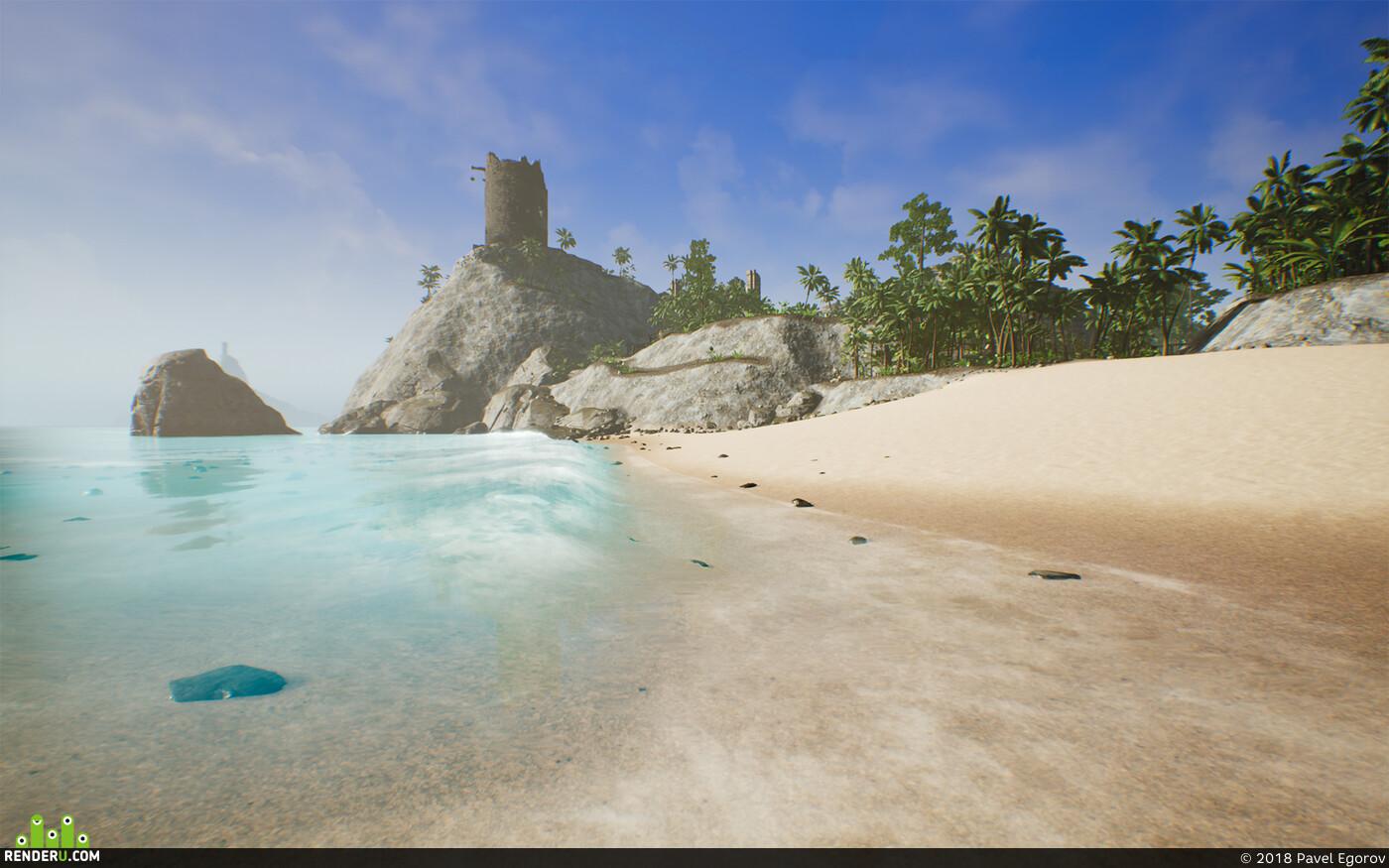 Дизайн уровней, Остров, тропики