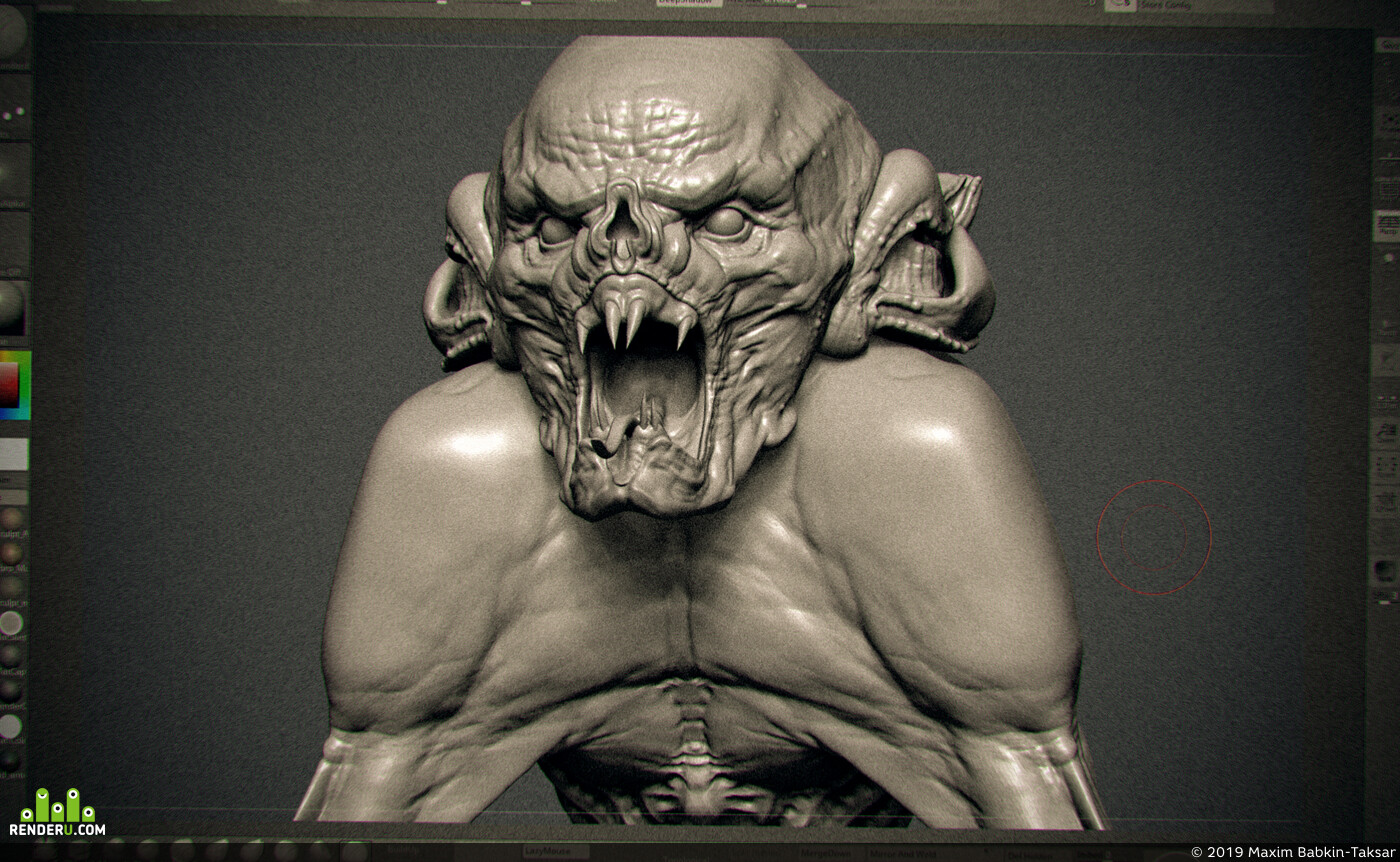 ZBrush, concept_art, creature design, creature, Character_Design, keyframe, 3d character, sculpting, zbrushsculpt