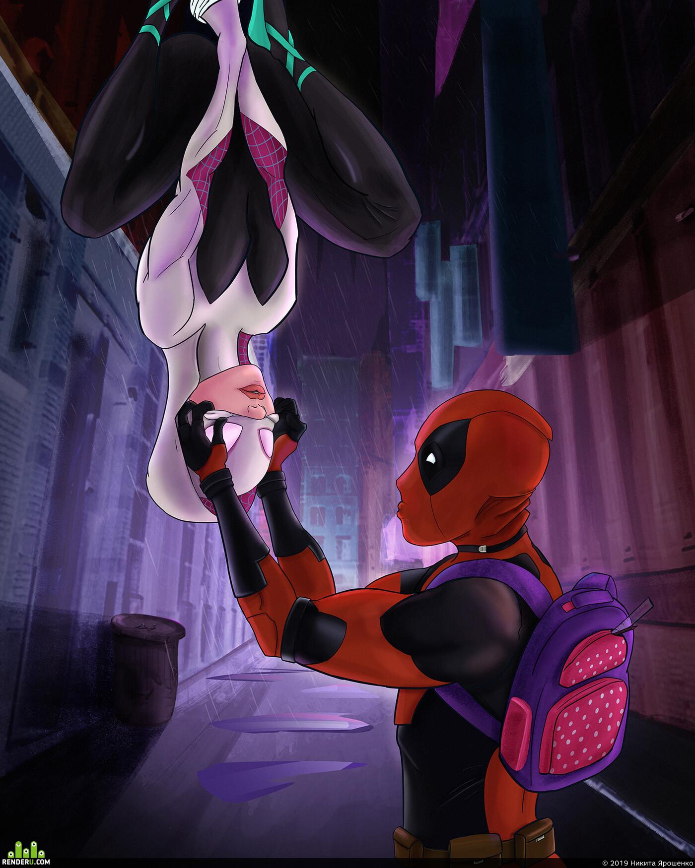 spidergwen, deadpool