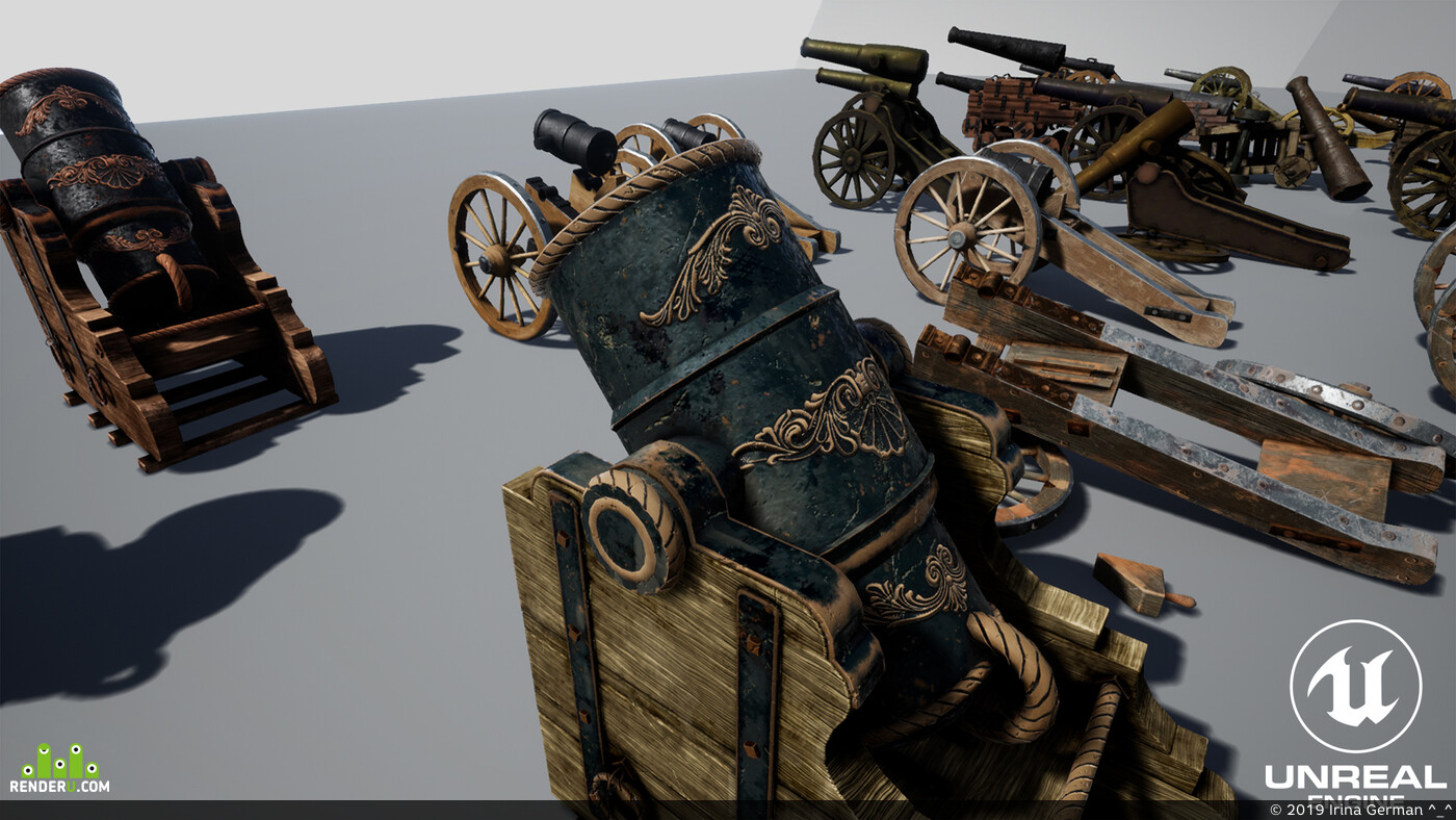Unreal Engine, substance painter, Environments, 3d, Blender, gameart, weapons for peace, substance designer, cannon, game