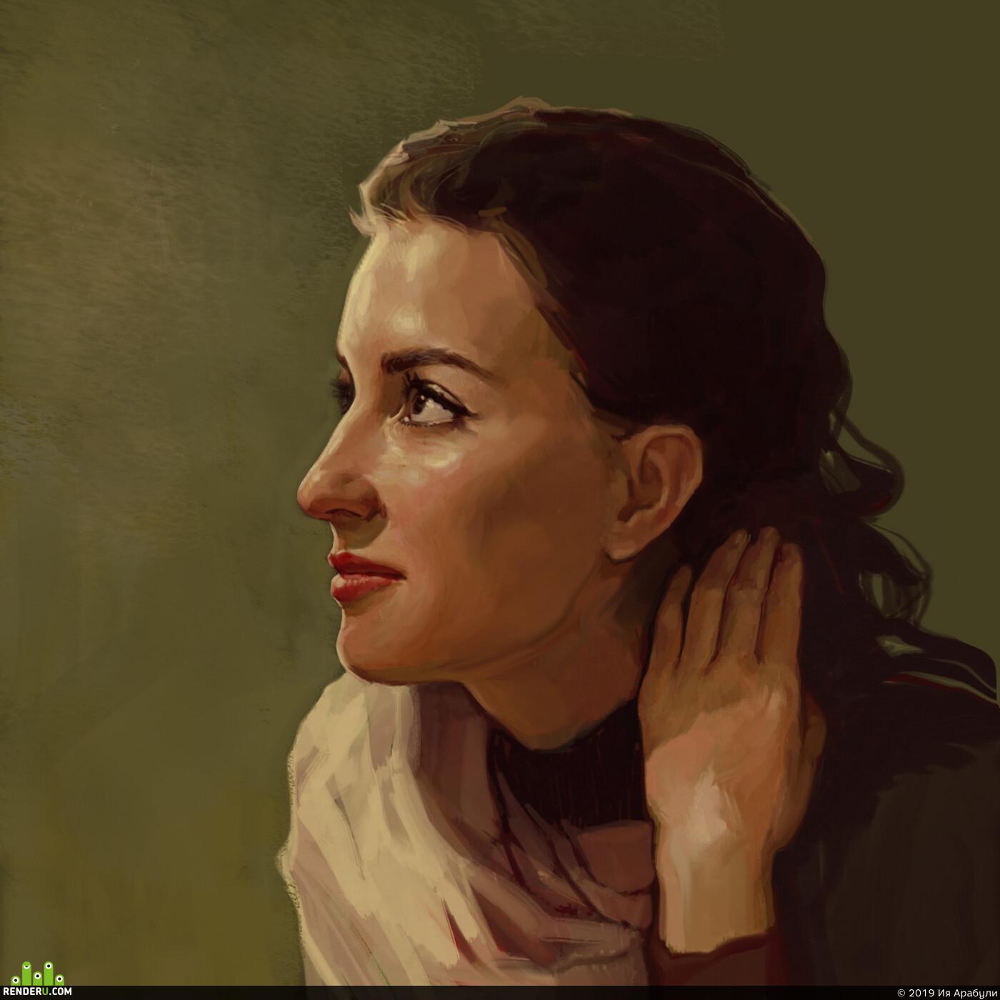 портрет, портрет девушки