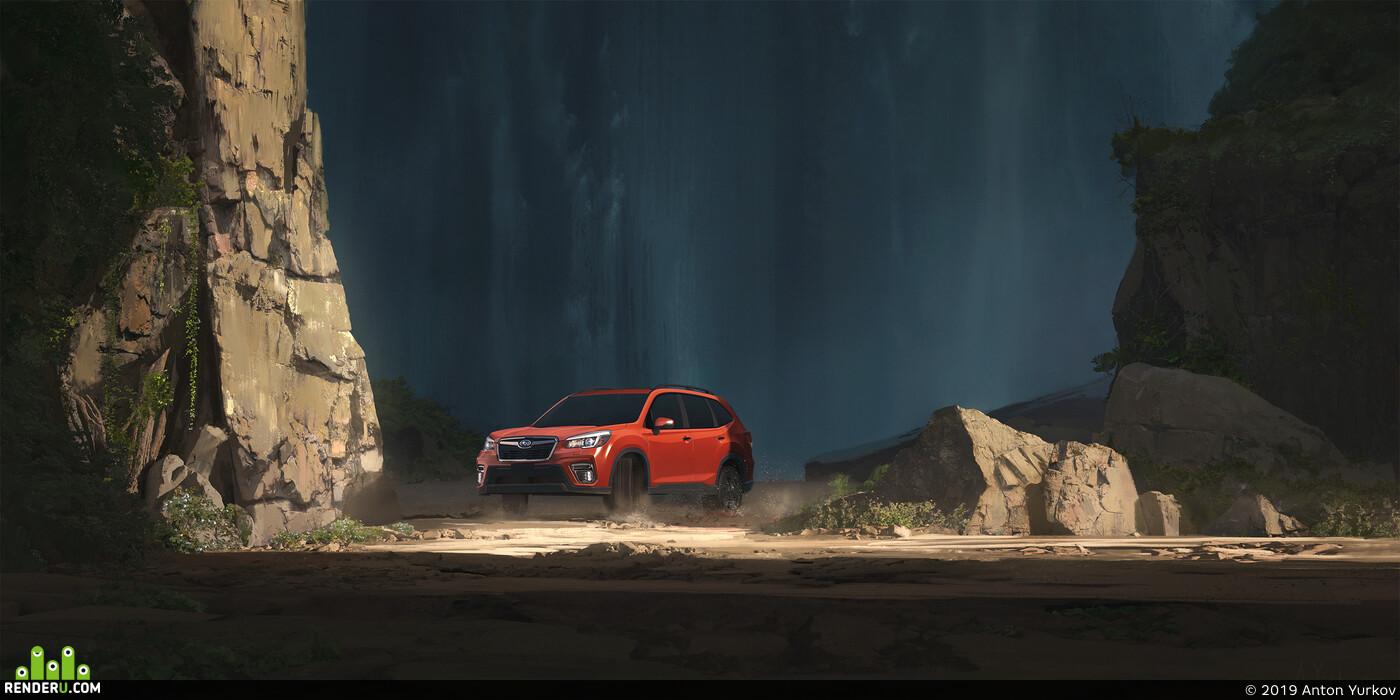 машина, vehicle, окружение