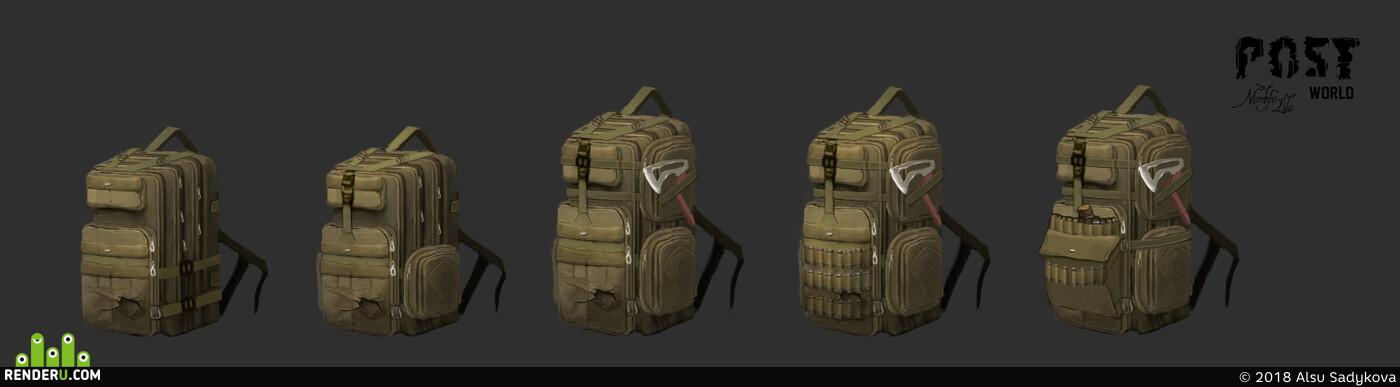 concept, art, Concept Art, backpack