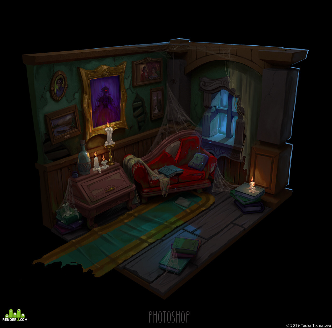 gameart, interior