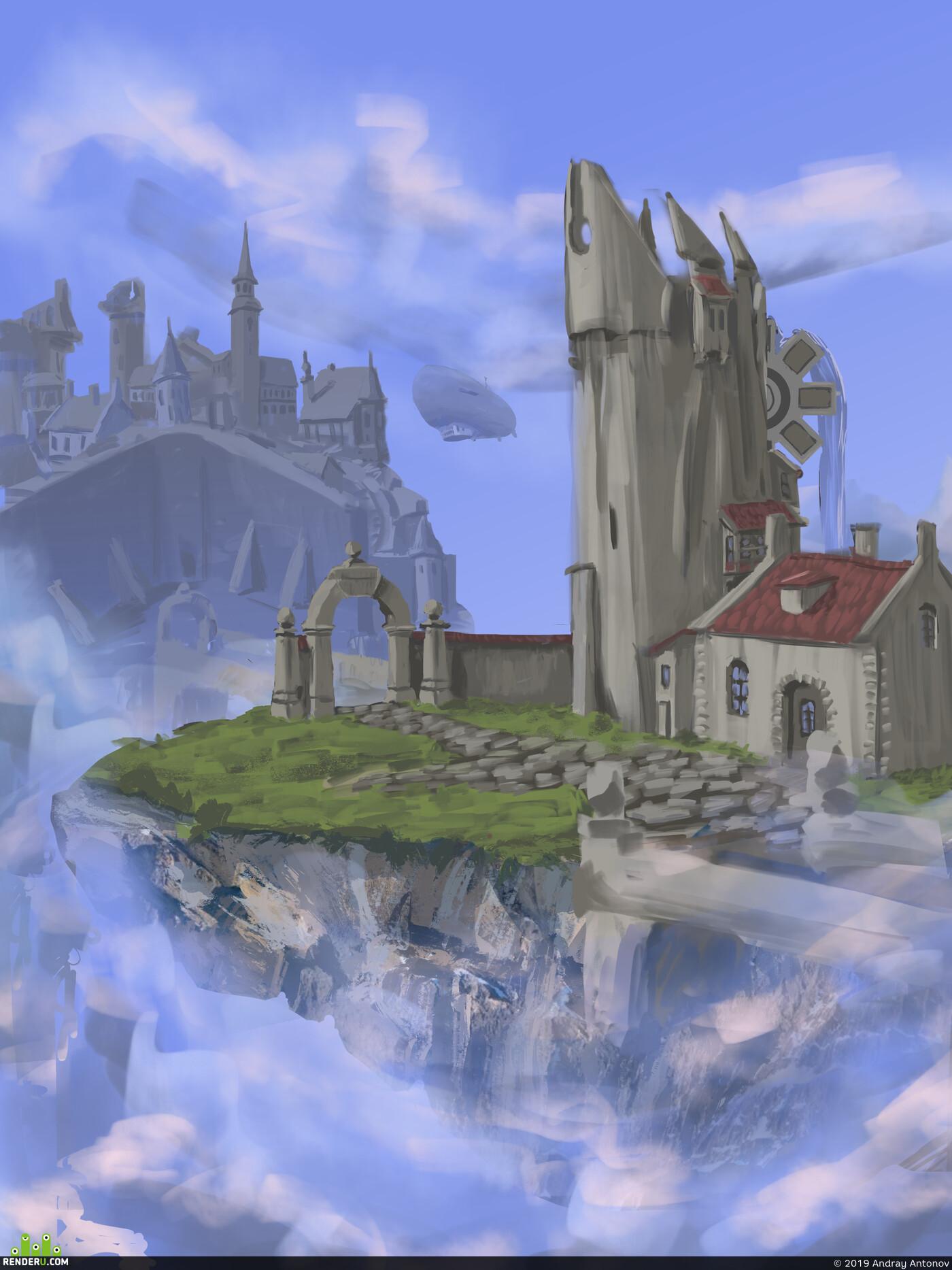 Digital 2D, Environments, 2D art