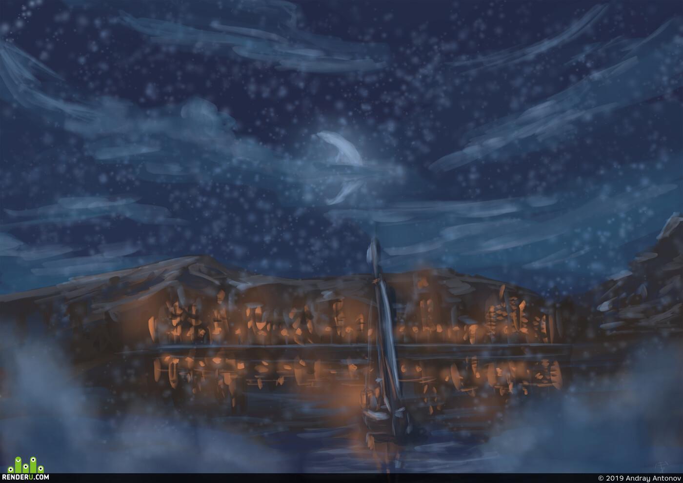 2D art, Environments, Digital 2D, illustration