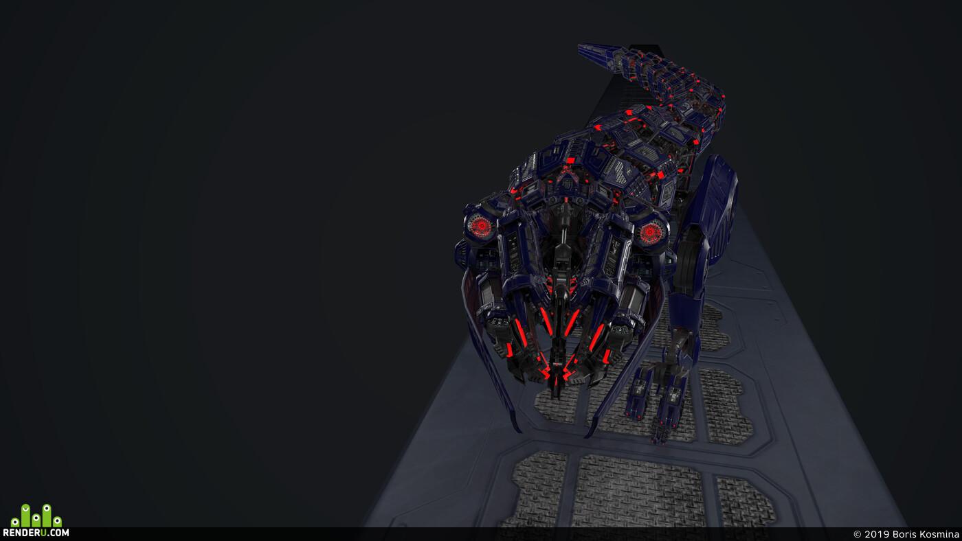 sci-fi, robot, hard surface