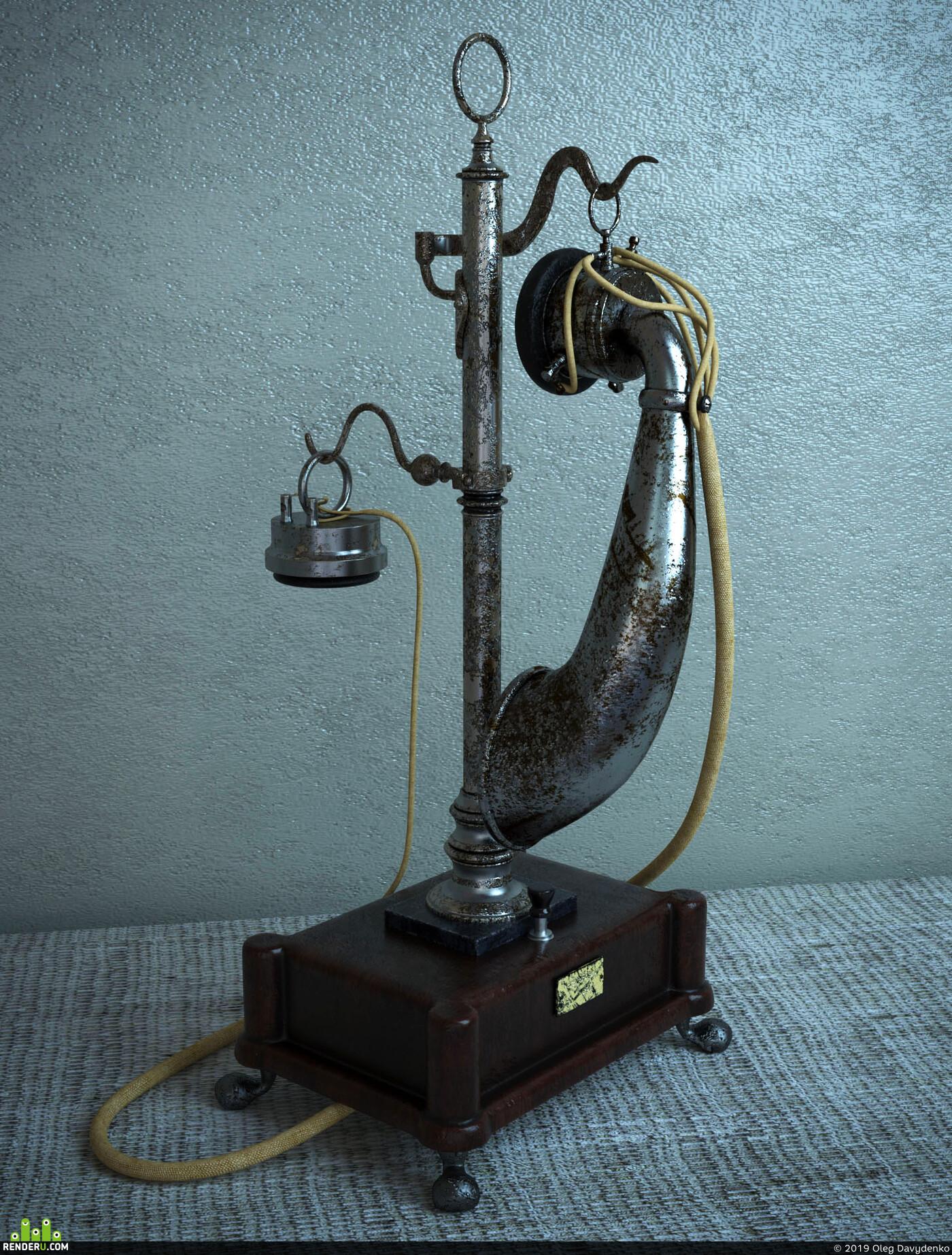 telephone, rust
