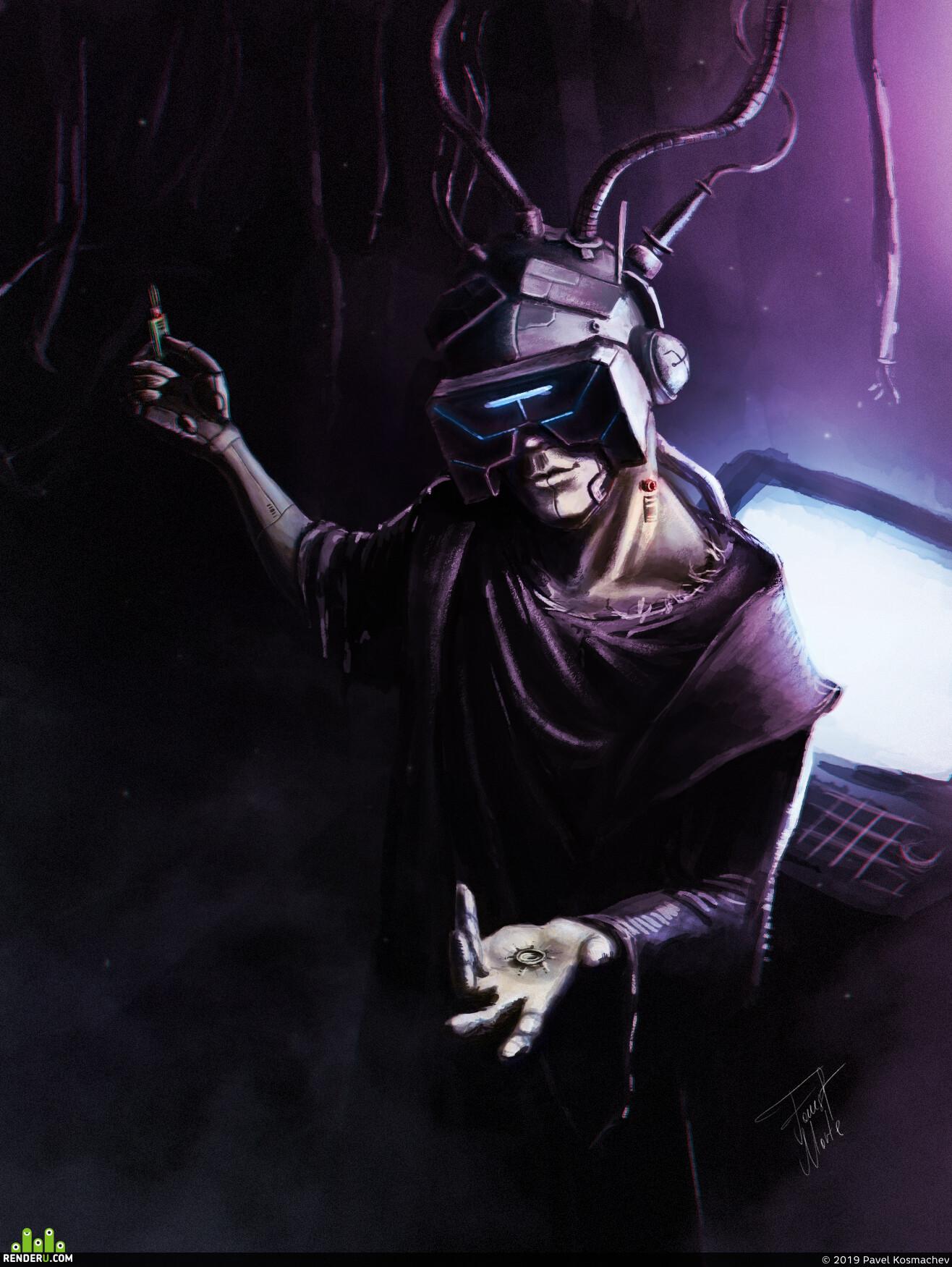 Photoshop, cyber punk, Cyberpunk 2077, sci-fi, scifi