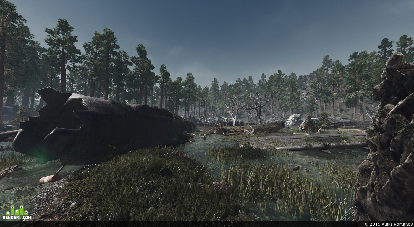 Unreal Engine 4, post-apocalypse, levelDisign, game level, leves, 3d environment, lightning