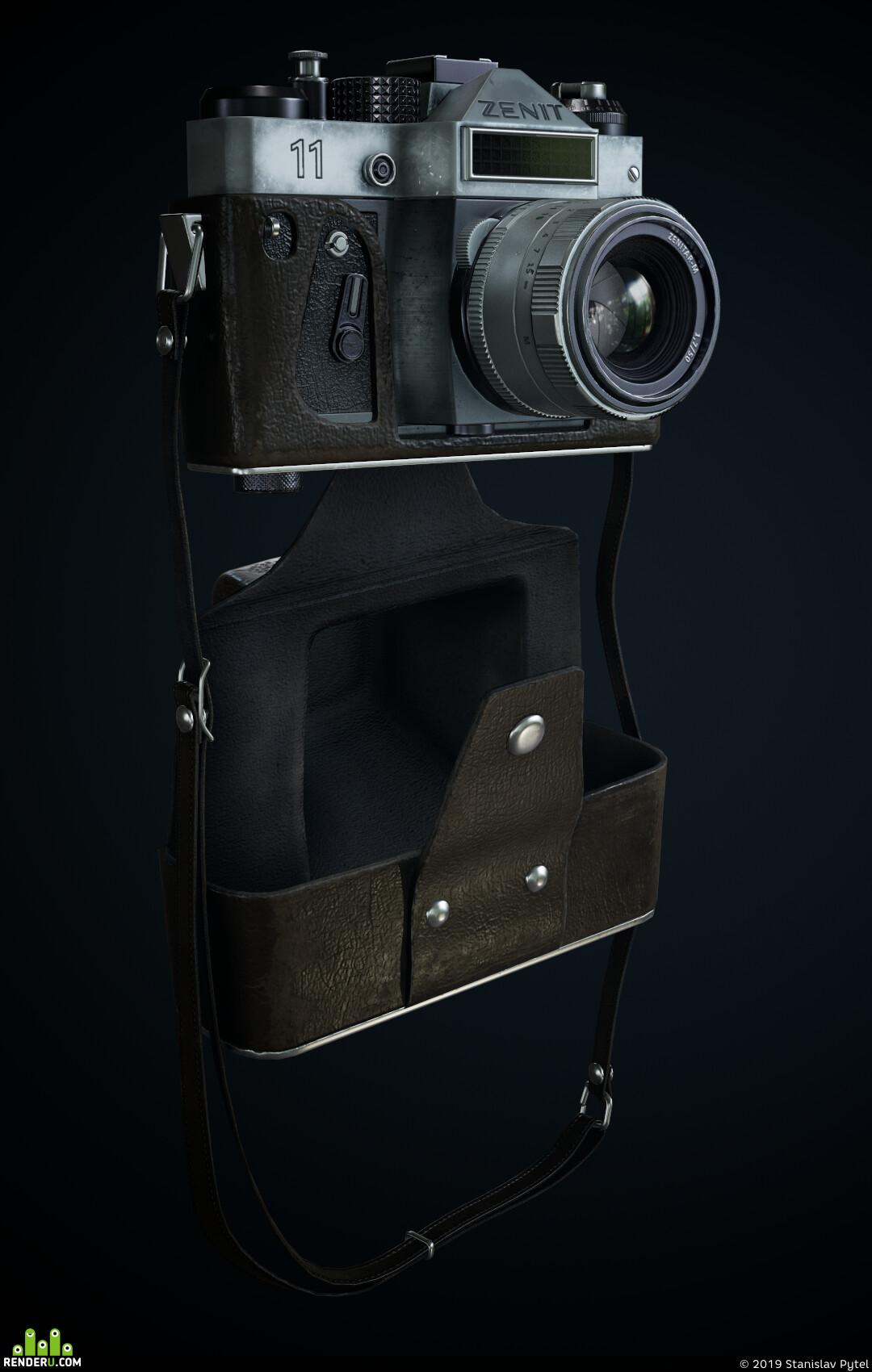 zenit, photocamera, Blender, substance, PBR