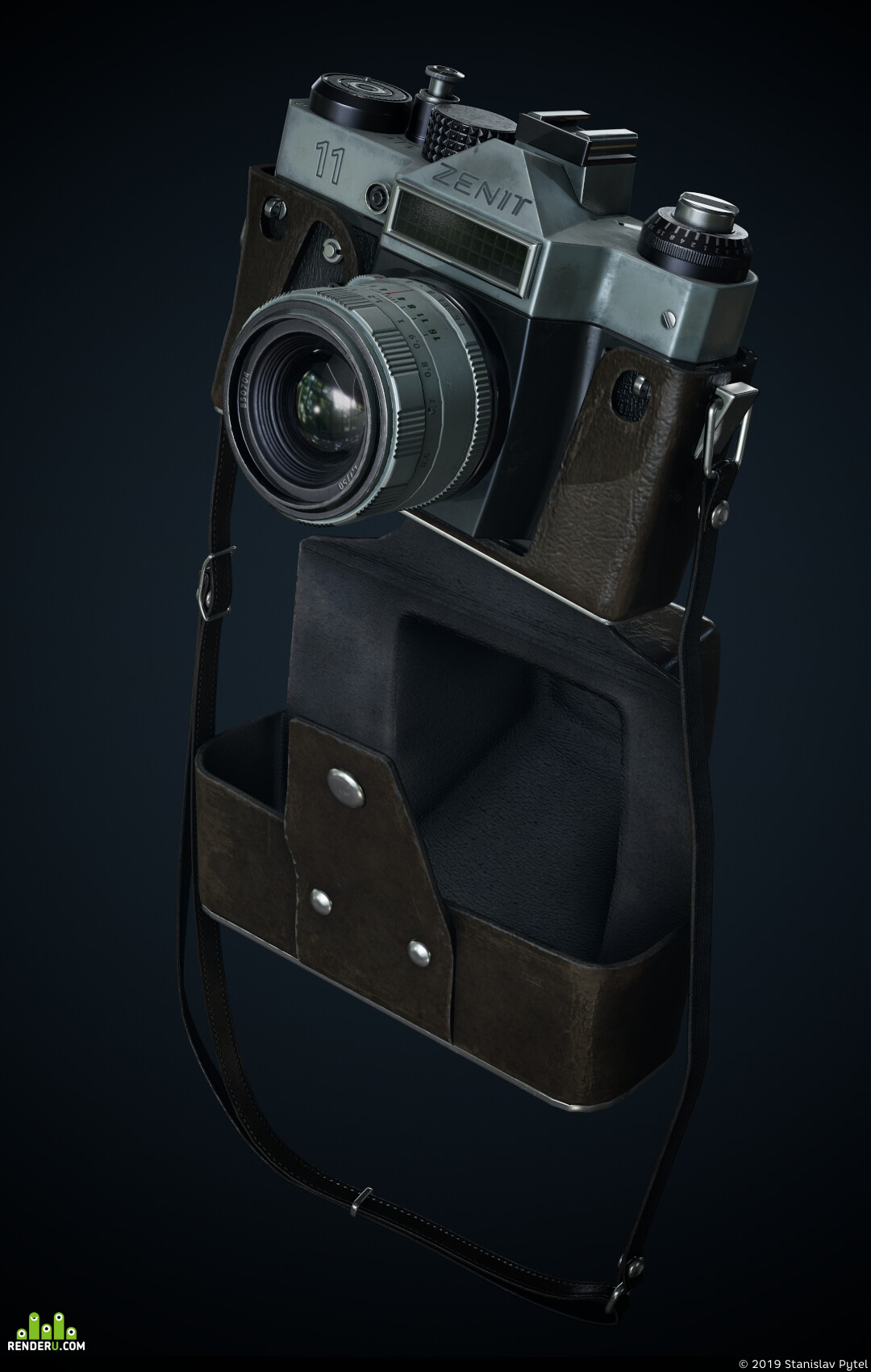 Зенит, Фотоаппарат, Blender, substance, PBR