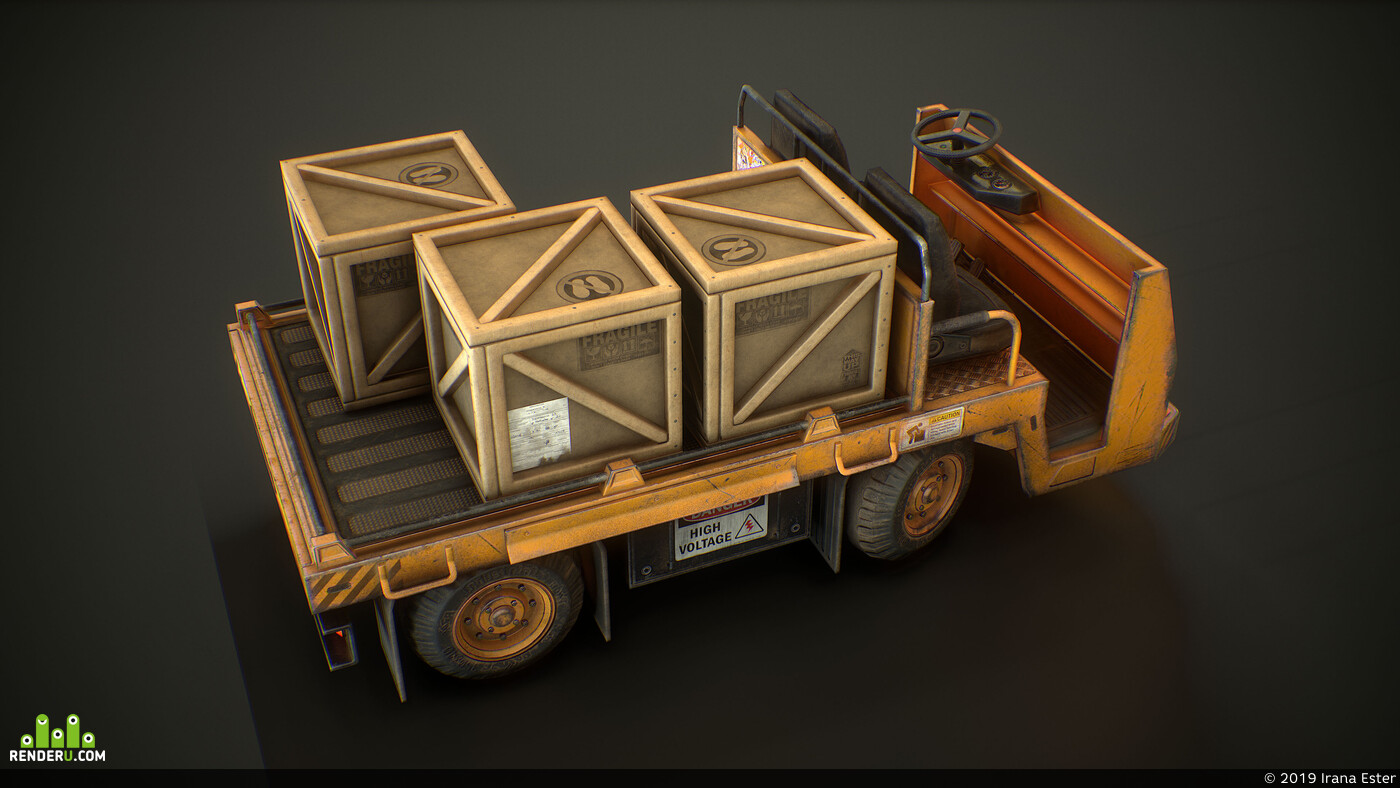 Transport & Vehicles, Textures & Materials, game asset, lowpoly