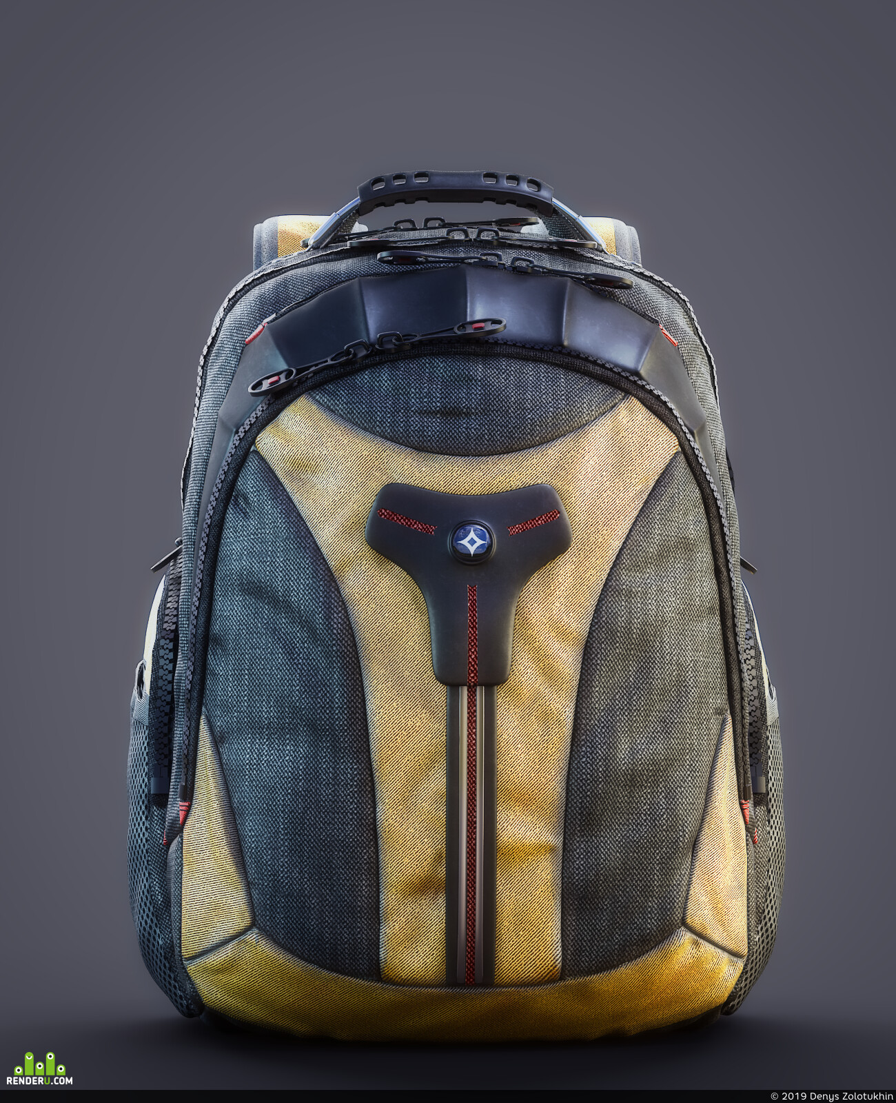 backpack, bag, things, object visualization