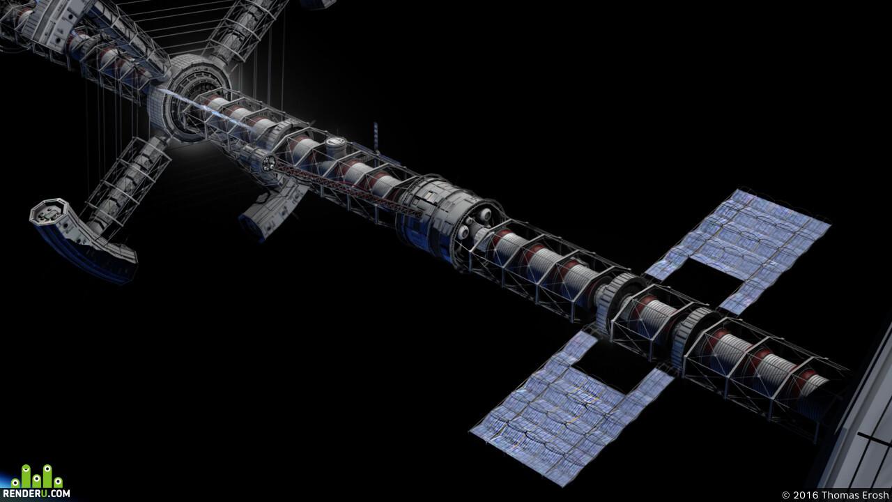 3d, space ship, Космос, Космический корабль, транспорт, Компьютерная графика/CG, spacestation
