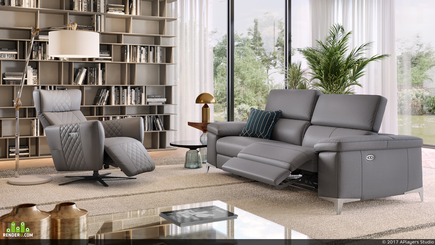 rendering, cgi, aplayers, coronarender, sofa, product, furniture, visualisation, relaxchair