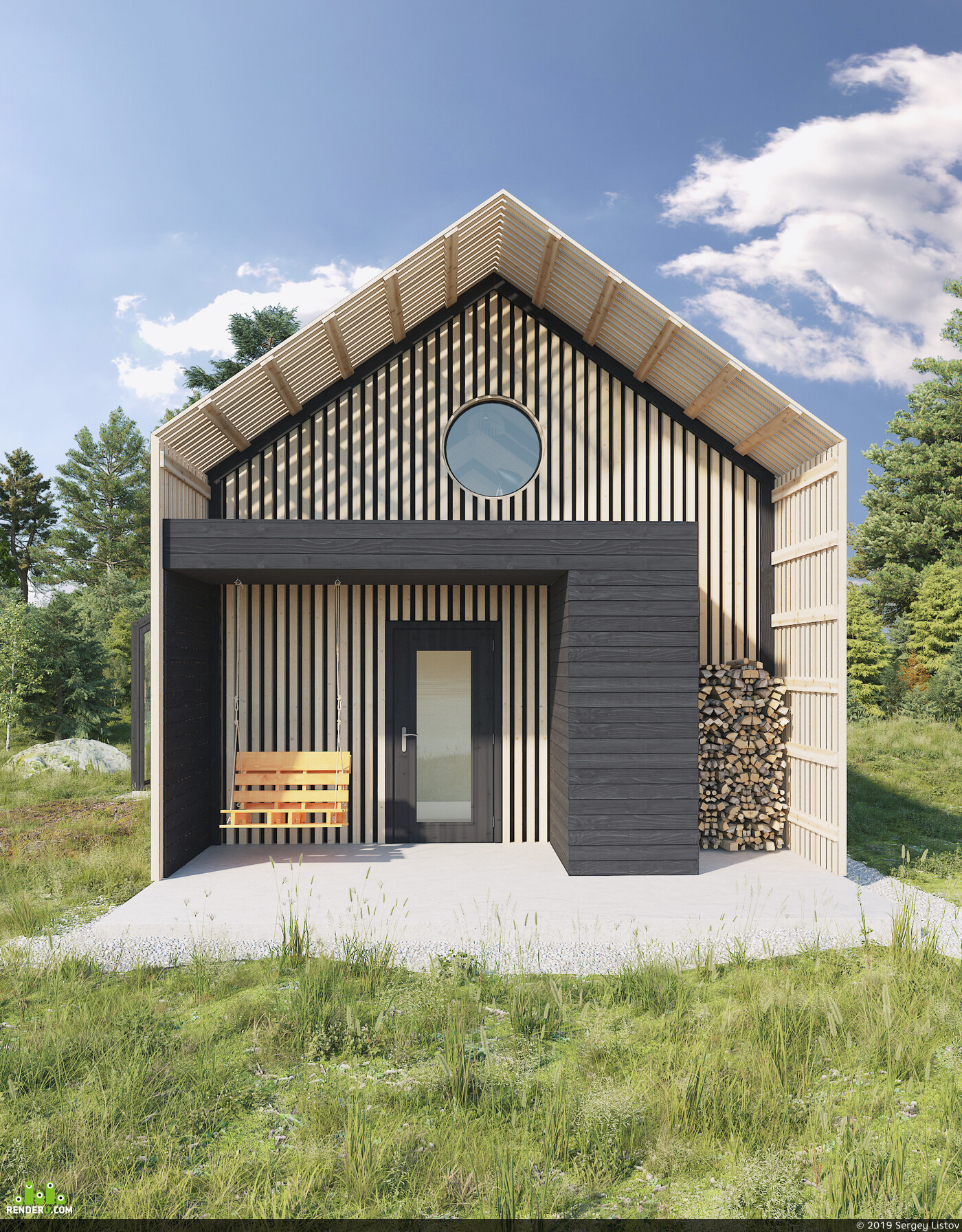 Vray, 3d max, barnhouse