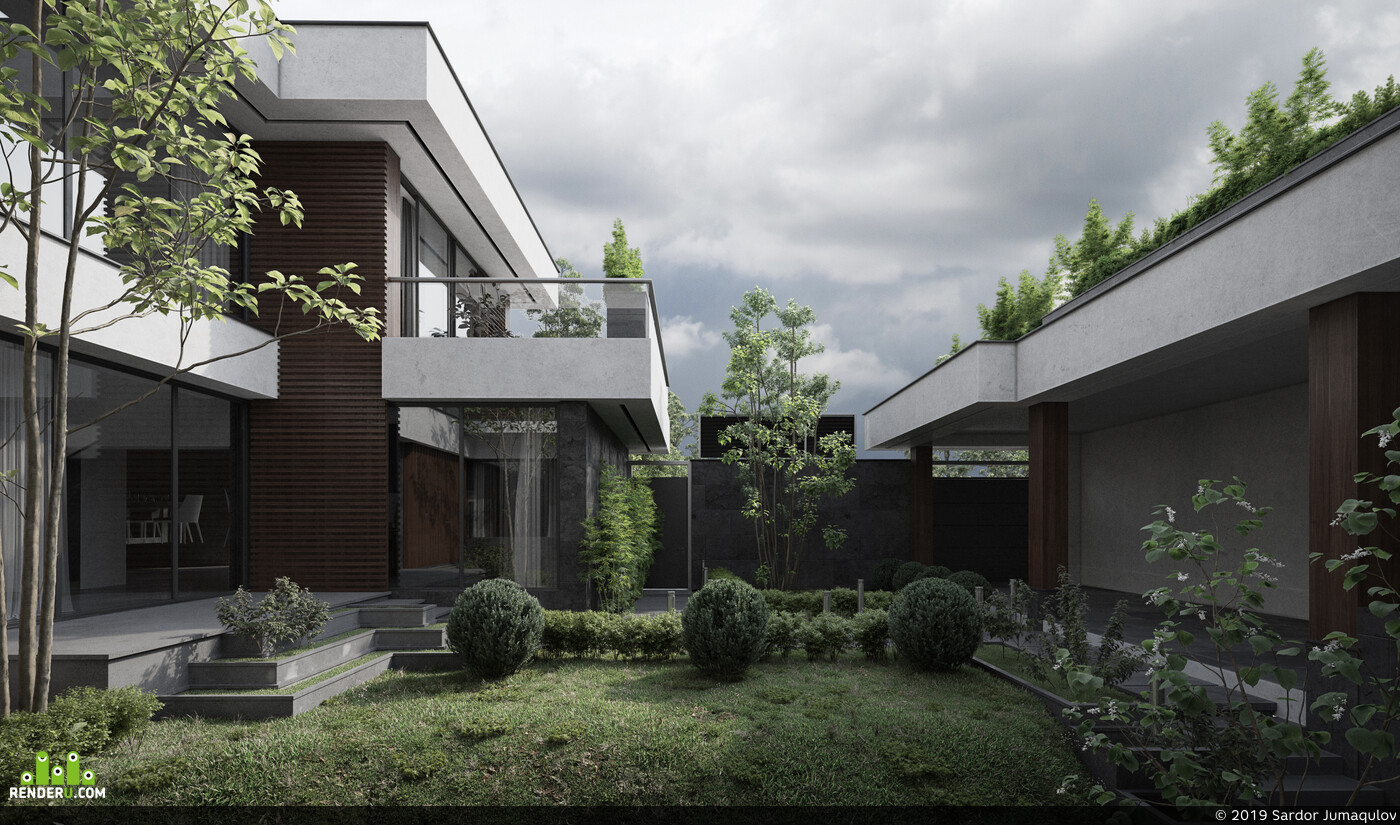 Objective visual, Exterior architecture, RenderMagazine, Corona Renderer, 3ds max, Adobe Photoshop, fullcgi