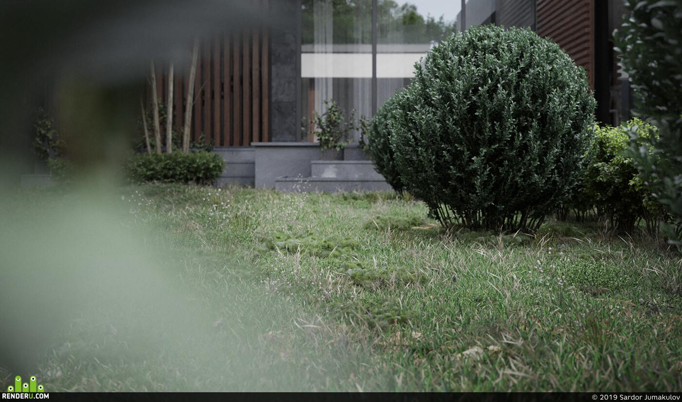 Objective visual Exterior architecture RenderMagazine Corona Renderer 3ds max Adobe Photoshop fullcgi