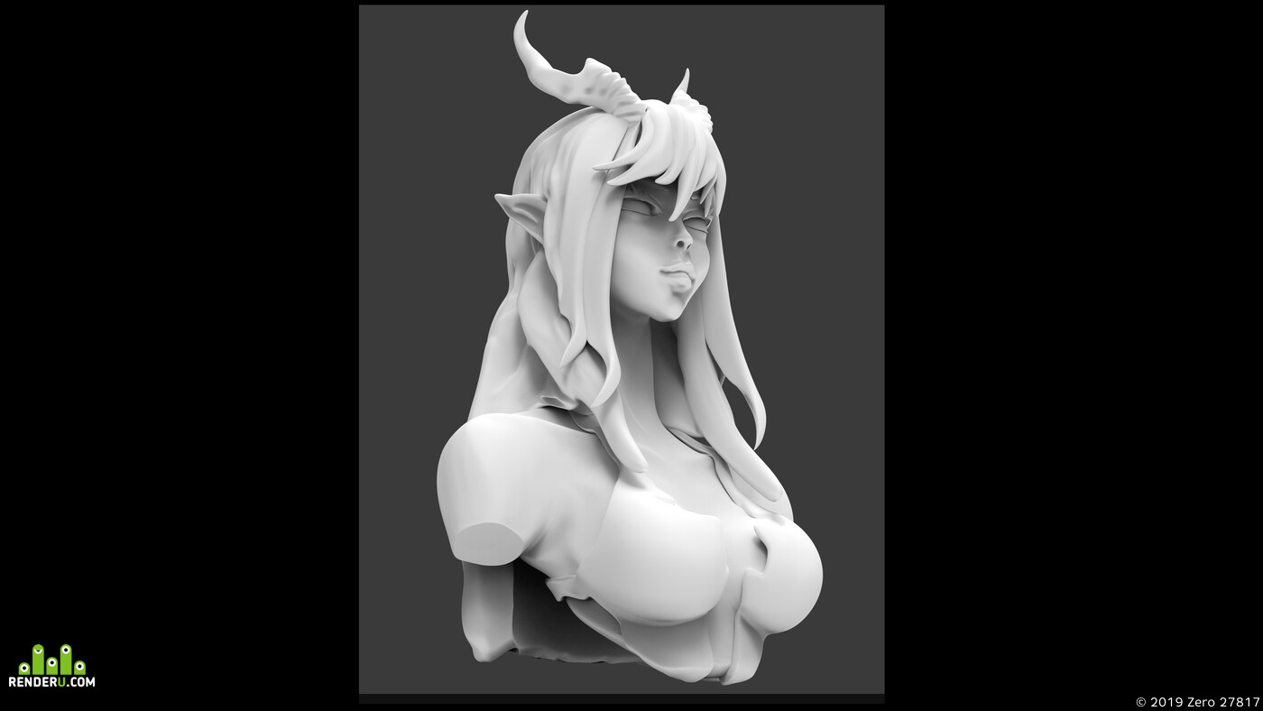 zbrush keyshot photoshop, Scuplt, demon, demones, japanesedemon