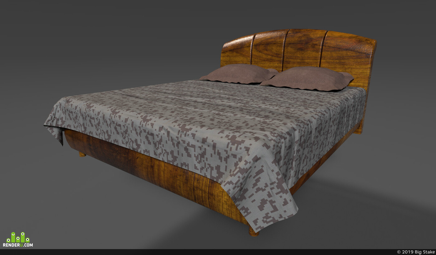 Traditional 3D, Environments, bed, furniture