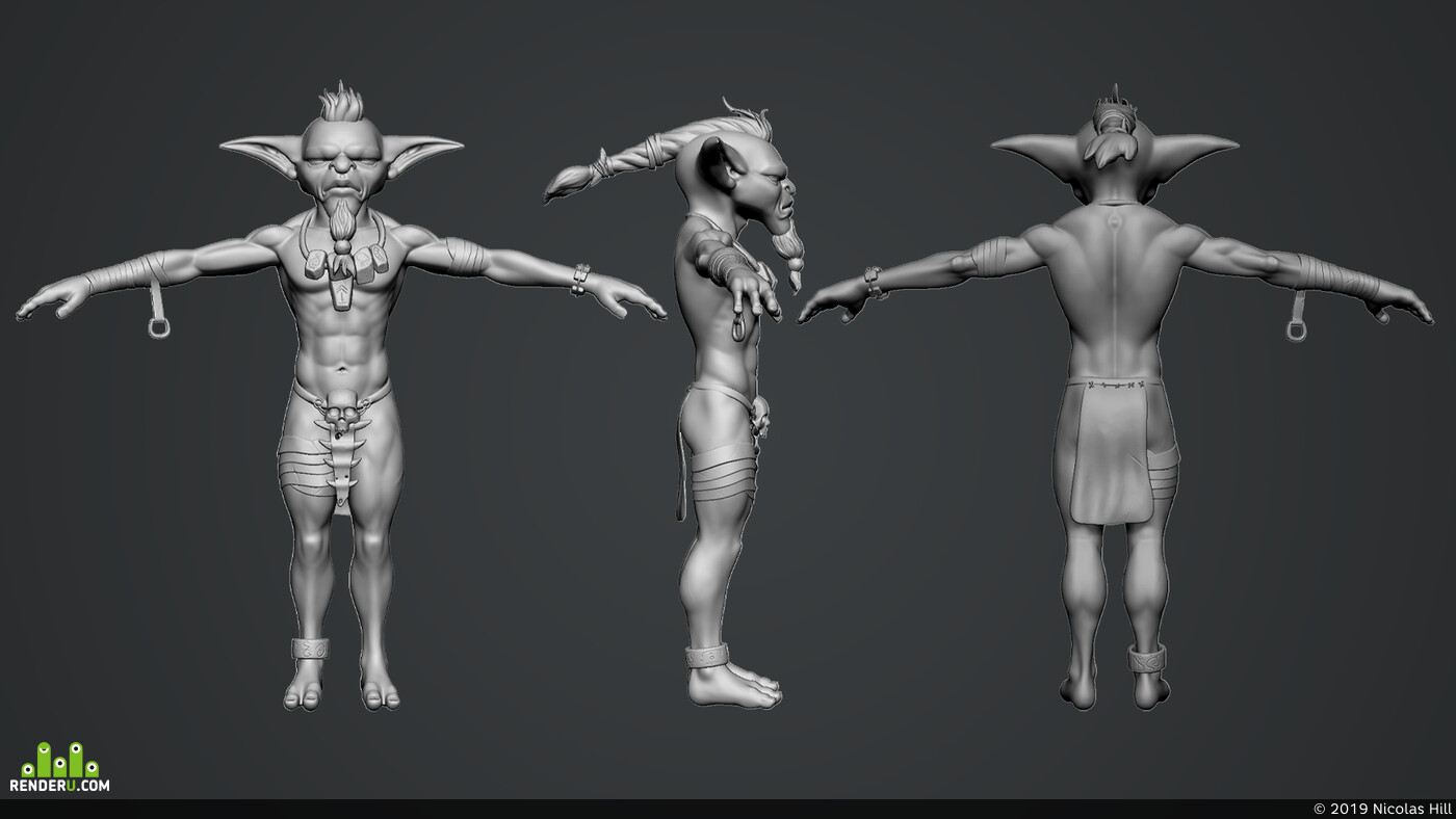 goblins, hunter, Character, Characters characterdesign characterart, 3d character, gamecharacter, realtimecharacter, lowpoly, gameart, gameready