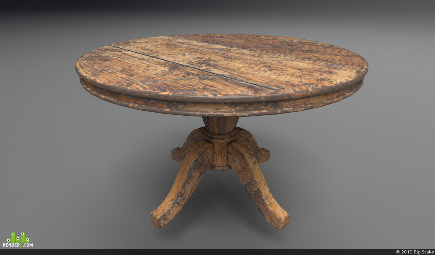 Traditional 3D, Environments, wood, table, old wood, VR, стол