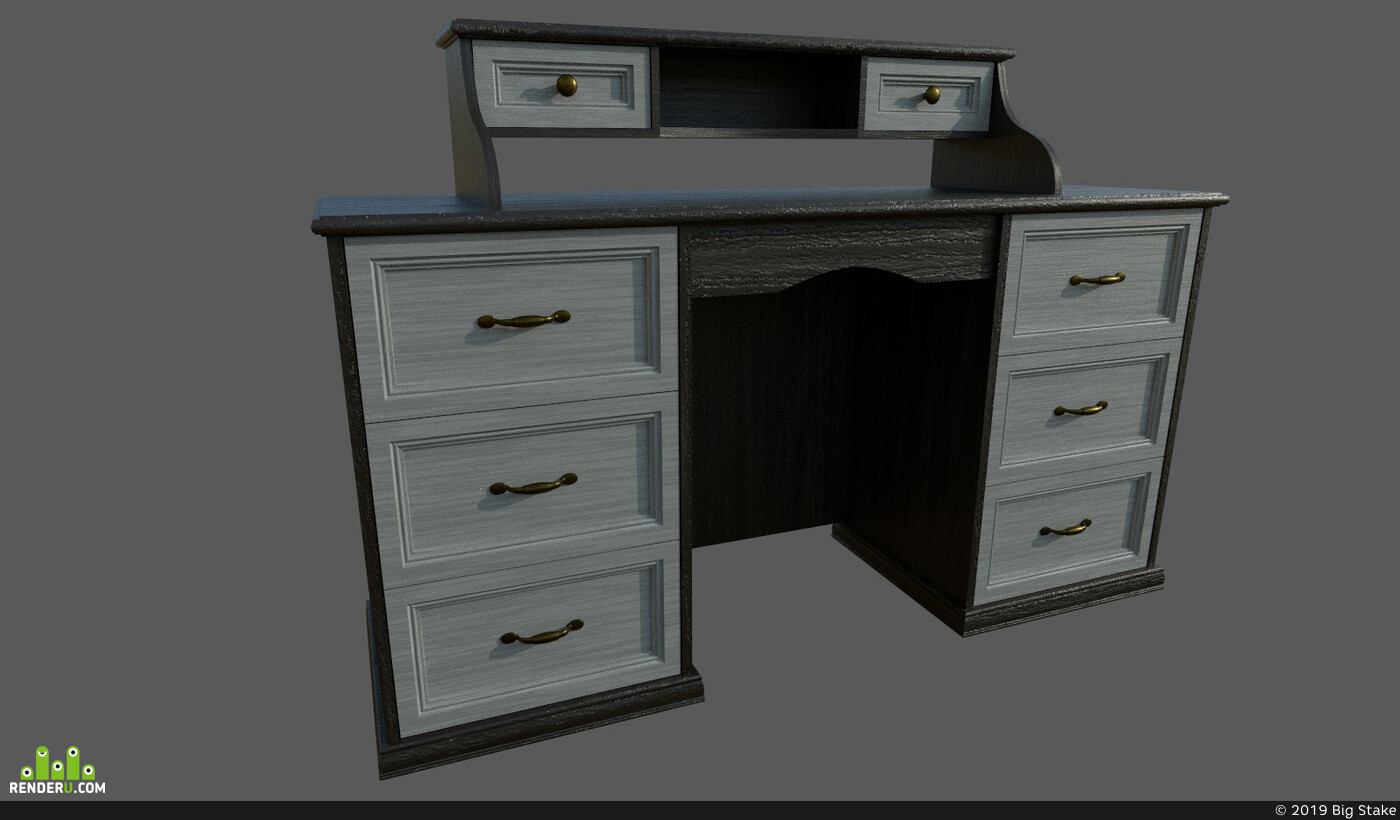 classic, furniture, table, virtualreality, table-wood, substancepainter, wood, environment