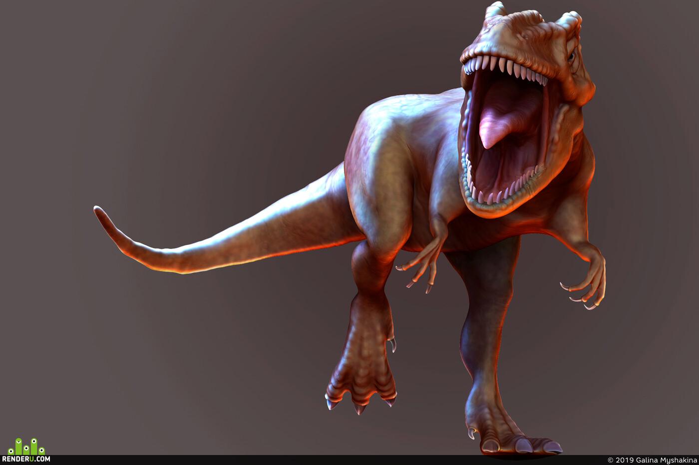 zbrushsculpt, dinosaurus, digital sculpture
