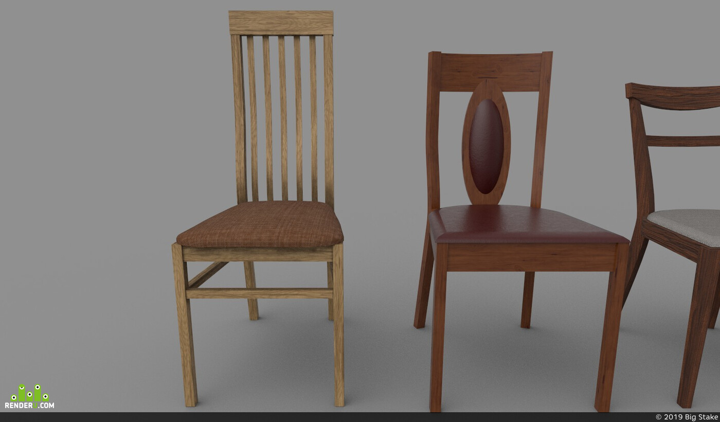 wooden, Leather, Vray, chairs, furniture, unrealengine4, substancepainter, Unity, chair, wood