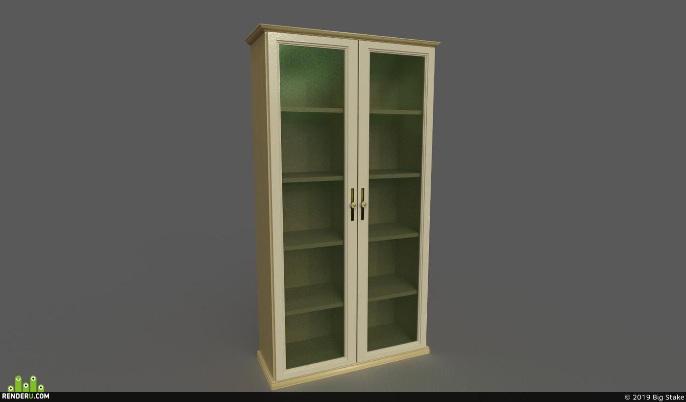 Vray, furniture, bookshelf, UnrealEngine, substancepainter, Unity, glass, wood, plastic, interior